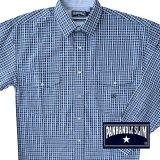 パンハンドルスリム ウエスタンシャツ・ブルーチェック(長袖)/Panhandle Slim Long Sleeve Western Shirt(Blue Plaid)