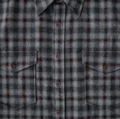 画像クリックで大きく確認できます Click↓2: ペンドルトン ウールシャツ・ガイドシャツ・アウトドアシャツ グレー・ブラックS/Pendleton Guide Shirt