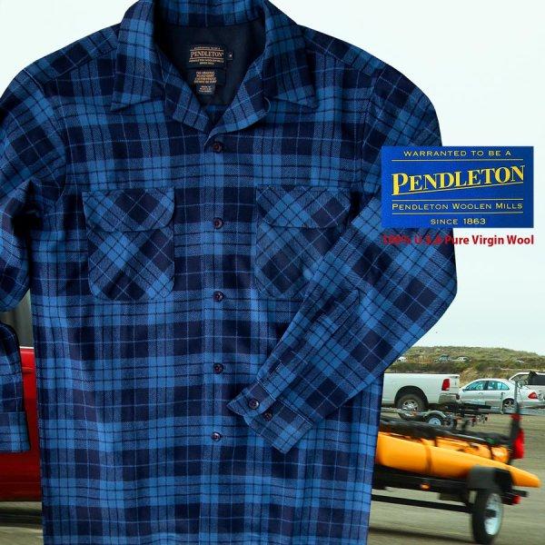 画像1: ペンドルトン ウールシャツ ボードシャツ ブループラッド/Pendleton Board Shirt