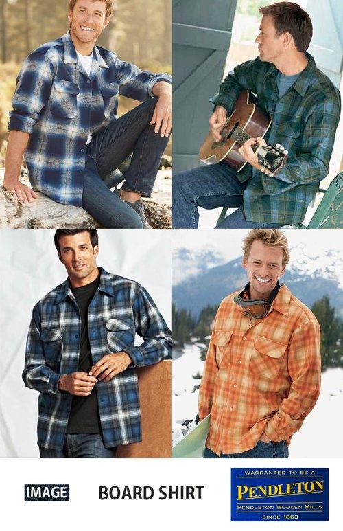 画像クリックで大きく確認できます Click↓3: ペンドルトン ウールシャツ ボードシャツ ブループラッド/Pendleton Board Shirt