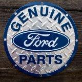 フォード モーターカンパニー メタルサイン(シルバー・ブルー)/Ford Motor Company Metal Sign GENUINE Ford PARTS