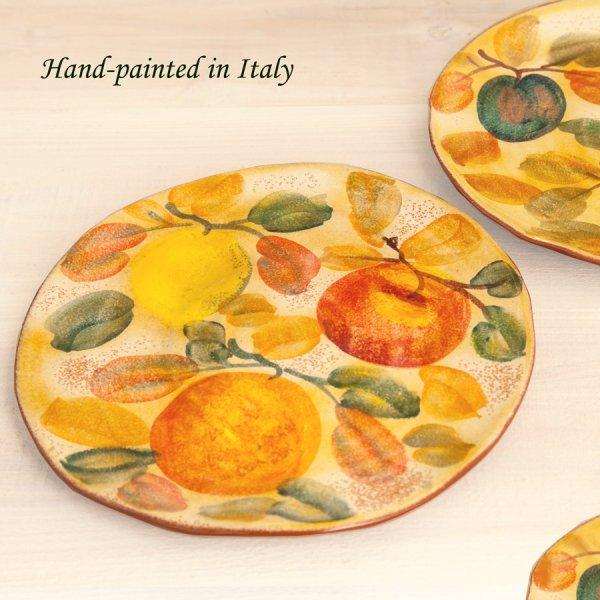 画像1: ハンドペイント フルーツ ディナープレート/Handpainted Dinner Plate