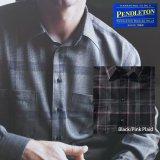ペンドルトン ゼファークロス ピュアーバージンウール シャツ(ブラック・ピンクプラッド)S/Pendleton Zephyr Cloth Wool Shirt(Black/Pink Plaid)