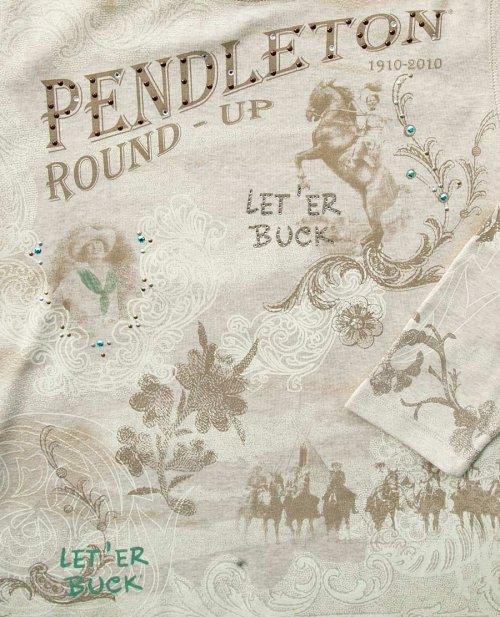 画像クリックで大きく確認できます Click↓2: ペンドルトン ラウンドアップコレクション プレミアムティー(レディース)S/Pendleton Round Up Tee Women's(Natural Heather)