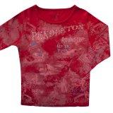 ペンドルトン ラウンドアップコレクション プレミアムティー(レディース)S/Pendleton Round Up Tee Women's(Red)