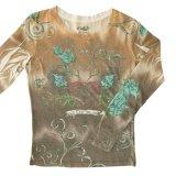 ローパー ハート 長袖 Tシャツ(レディース)/Roper Women's T-shirt(Brown)