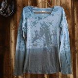 ローパー レディース ウエスタン Tシャツ ホース ブルー(長袖)/Roper Women's Western T-shirt(Blue)