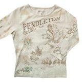 ペンドルトン ラウンドアップコレクション プレミアムティー(レディース)S/Pendleton Round Up Tee Women's(Natural Heather)