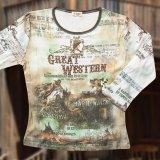 グレイト ウエスタン レディース ウエスタン TシャツS/Women's Western T-shirt(Light Blue)