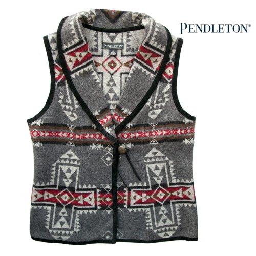 画像クリックで大きく確認できます Click↓2: ペンドルトン レディース ウール ベスト(クロスロード グレー)S/Pendleton Wool Vest Crossroads Grey(Women's)