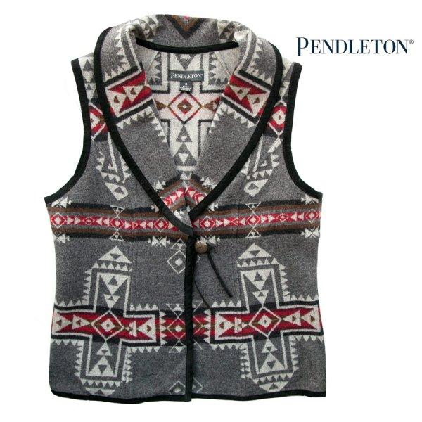 画像1: ペンドルトン レディース ウール ベスト(クロスロード グレー)S/Pendleton Wool Vest Crossroads Grey(Women's)