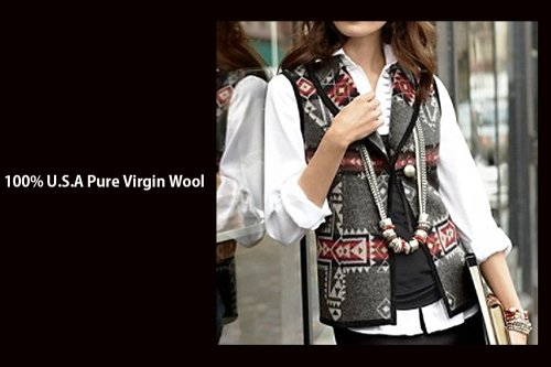 画像クリックで大きく確認できます Click↓1: ペンドルトン レディース ウール ベスト(クロスロード グレー)S/Pendleton Wool Vest Crossroads Grey(Women's)