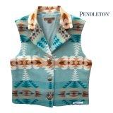 ペンドルトン レディース ピュアーヴァージンウール ベスト(ブルー・ブラウン)/Pendleton Pure Virgin Wool Vest(Women's)