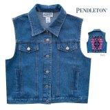 ペンドルトン デニム ベスト デニム・ピンク(レディース)/Pendleton Denim Vest