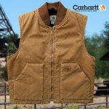 カーハート サンドストーンダック ベスト(カーハートブラウン)/Carhartt Vest(V02 Brown)