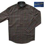 ペンドルトン コットン・ウール ボタンダウンシャツ(長袖 /ブラウン)S/Pendleton Button-Down Shirt