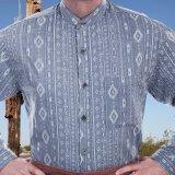 ワーメーカー バンドカラー アズテック オールドウエストシャツ(インディゴ)S/Wah Maker Band Collar Old West Shirt(Indigo)