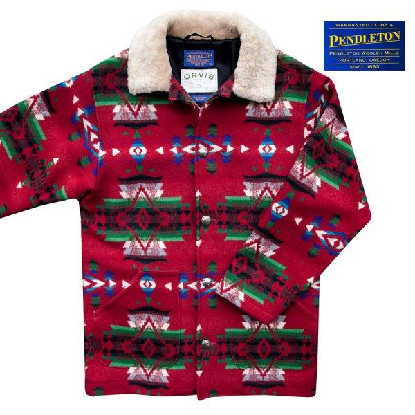 画像1: オービス ペンドルトン ウール コート/Orvis Pendleton Wool Coat