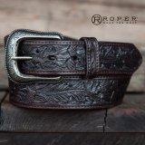 ローパー ウエスタン レザー ベルト(ダークブラウン)/Roper Western Leather Belt(Dark Brown)