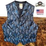 ワーメーカー オールドウエスト ベスト(ブルー ペイズリーフェザー)/Wah Maker Old West Vest (Blue Paisley Feather)