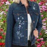 スカリー フローラル刺繍 デニムジャケット(デニム)/Scully Embroidery Classic Denim Jacket(Women's)