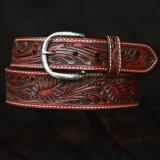 ウエスタン レザーベルト(テーパード ・ブラウン)/Western Leather Belt(Cognac)