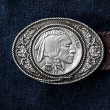 バックル インディアンヘッド(シルバー)/Belt Buckle Indian Head