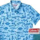 コールマン フィッシング 半袖 シャツ(マリンブルー)/Coleman Short Sleeve Shirt