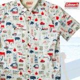 コールマン バーベキュー 半袖 シャツ(レッド・ホワイト・ブルー)/Coleman BBQ Print Short Sleeve Shirt