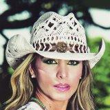 ブルハイド ウエスタン ストローハット ノーティガール(スター・ホワイト)/Bullhide Western Straw Hat Naughty Girl(White)
