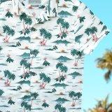 アロハシャツ ビーチ・パラダイス(クリーム)/Aloha Shirt(Cream)
