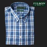 フィルソン 長袖 シャツ(ブルー・ホワイトプラッド)/Filson Blue Plaid Shirt(Long Sleeve)