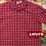 リーバイス 半袖 シャツ(レッド・ネイビー・ホワイト)/Levi's Plaid Shortsleeve Shirt
