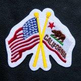 ワッペン 星条旗 カリフォルニア州旗/Patch