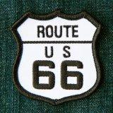 ワッペン ルート66 ブラック・ホワイト/Patch Route 66
