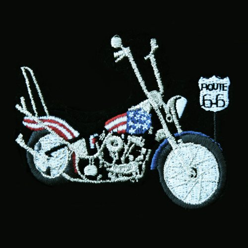 画像クリックで大きく確認できます Click↓1: ワッペン アメリカンモーターサイクル&ルート66/Patch
