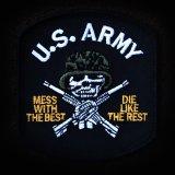 ワッペン ユーエスアーミー U.S.ARMY ブラック/Patch