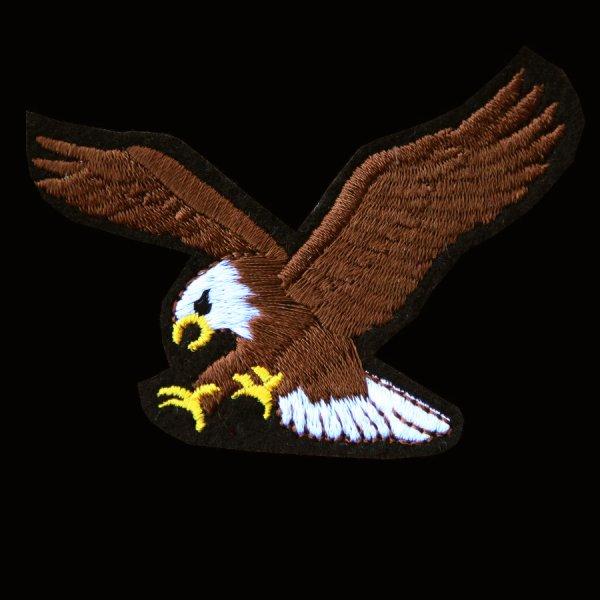 画像1: ワッペン アメリカン イーグル ブラック・ブラウン/Patch American Eagle
