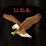 ワッペン U.S.A. アメリカンイーグル ブラック・ブラウン/Patch U.S.A American Eagle
