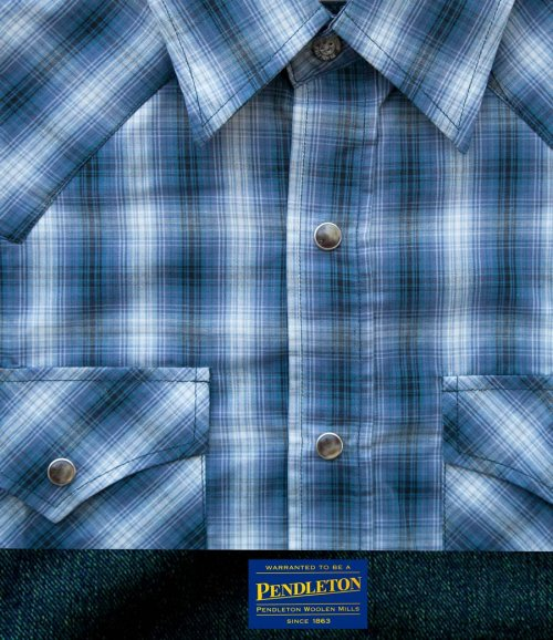 画像クリックで大きく確認できます Click↓1: ペンドルトン 半袖 ウエスタン シャツ ブルー・ホワイトS/Pendleton Shortsleeve Western Shirt