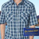 ペンドルトン 半袖 ウエスタン シャツ ブルー・ホワイトS/Pendleton Shortsleeve Western Shirt