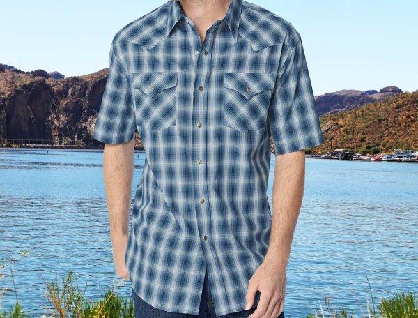 画像3: ペンドルトン 半袖 ウエスタン シャツ ブルー・ホワイトS/Pendleton Shortsleeve Western Shirt