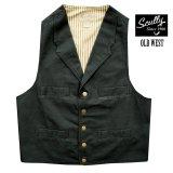 スカリー キャンバス ベスト(ブラック)/Scully Canvas Vest (Black)