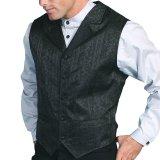 スカリー フローラル ブラック ベスト/Scully Floral Jacquard Vest (Black)