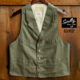 スカリー キャンバス ベスト(アーミーグリーン)/Scully Canvas Vest (Khaki)