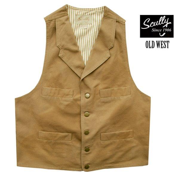 画像1: スカリー キャンバス ベスト(ブラウン)/Scully Canvas Vest (Brown)