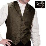 スカリー オールドウエスト ペイズリー ベスト(ブラウン)/Scully Old West Paisley Vest(Brown)