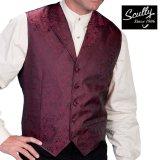 スカリー オールドウエスト ペイズリー ベスト(ワイン)/Scully Old West Paisley Vest(Burgundy)