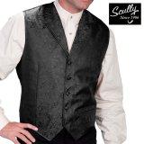 スカリー オールドウエスト ペイズリー ベスト(ブラック)/Scully Old West Paisley Vest(Black)