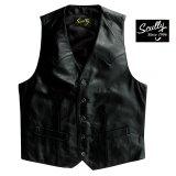 スカリー ウエスタン ラムレザー ベスト(ブラック)/Scully Western Lamb Leather Vest(Black)